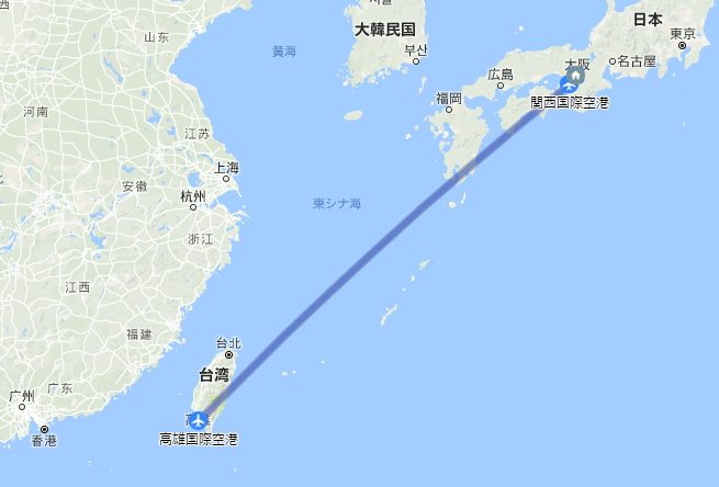 初めての海外自転車旅行in台湾の行程
