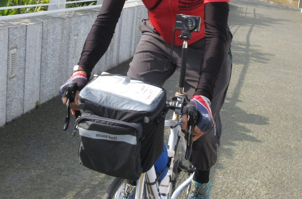 自転車走行時の簡単取り出しカメラ撮影術その1