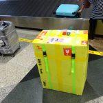 中国国際航空で輪行箱のベルトが無くなった!