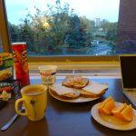 ワシントンDC滞在中の食事:朝食