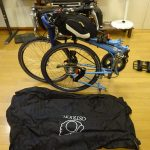 BikeFriday の輪行方式を変更、前輪をはずさないので省力化できるのを実践してきます